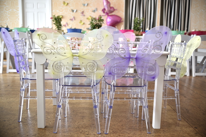 Fairy-winged chairs from a Fairy Garden Craft Party on Kara's Party Ideas | KarasPartyIdeas.com (13)