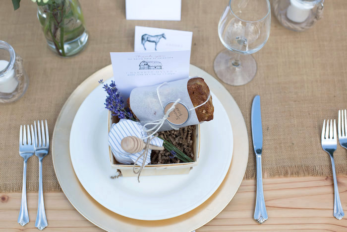 Place setting from a Farmers' Market Baby Shower on Kara's Party Ideas | KarasPartyIdeas.com (21)