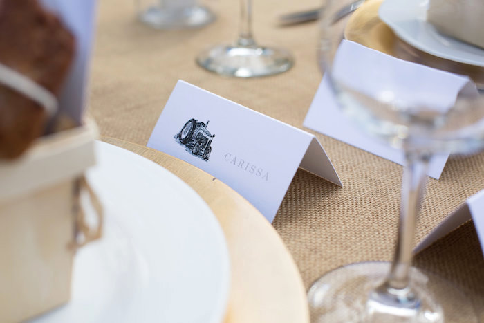 Place card from a Farmers' Market Baby Shower on Kara's Party Ideas | KarasPartyIdeas.com (20)