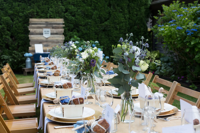 Guest table from a Farmers' Market Baby Shower on Kara's Party Ideas | KarasPartyIdeas.com (15)