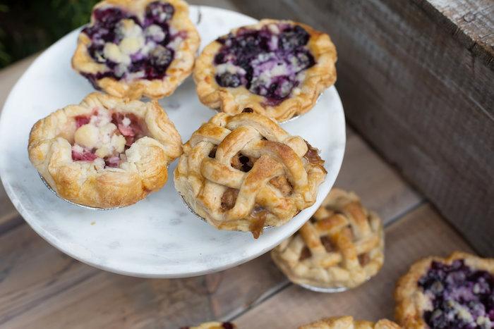 Mini pies from a Farmers' Market Baby Shower on Kara's Party Ideas | KarasPartyIdeas.com (12)
