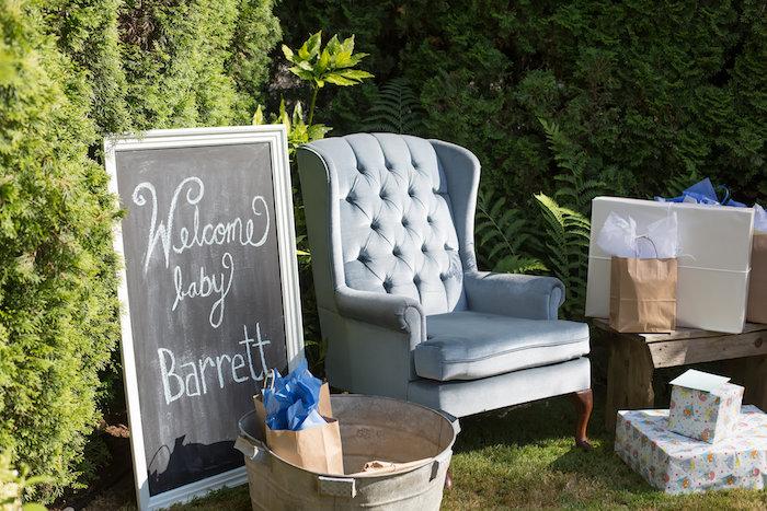 Mom's lounge from a Farmers' Market Baby Shower on Kara's Party Ideas | KarasPartyIdeas.com (4)