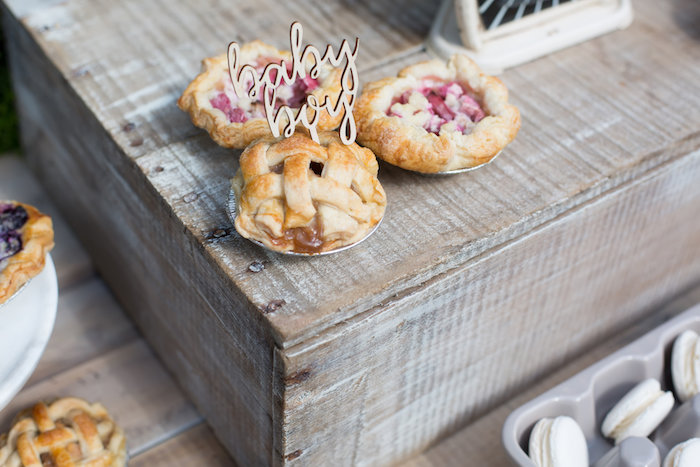 Mini pies from a Farmers' Market Baby Shower on Kara's Party Ideas | KarasPartyIdeas.com (27)