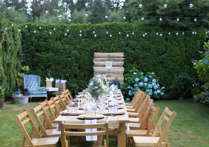 Guest table from a Farmers' Market Baby Shower on Kara's Party Ideas | KarasPartyIdeas.com (25)