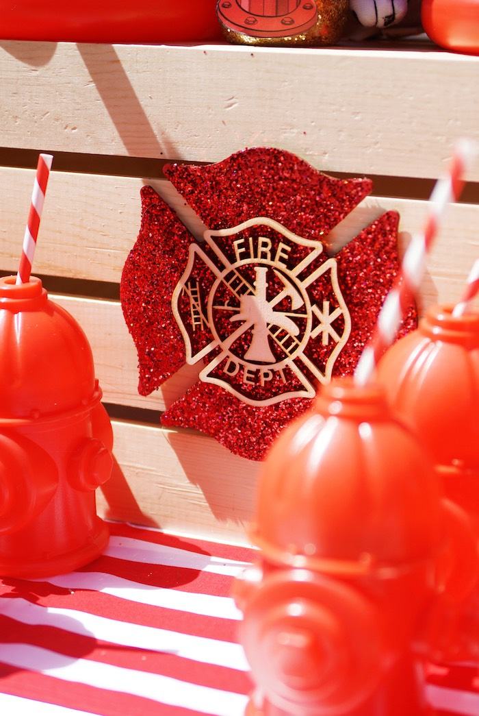 Fireman Seal from a Fireman Birthday Party on Kara's Party Ideas | KarasPartyIdeas.com (12)