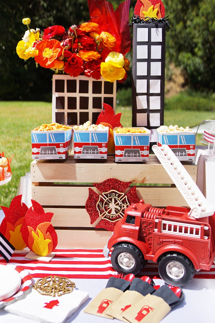 Fireman Birthday Party on Kara's Party Ideas | KarasPartyIdeas.com (7)