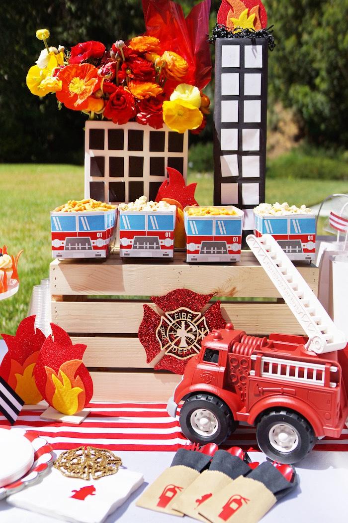 Fireman Birthday Party on Kara's Party Ideas | KarasPartyIdeas.com (7)