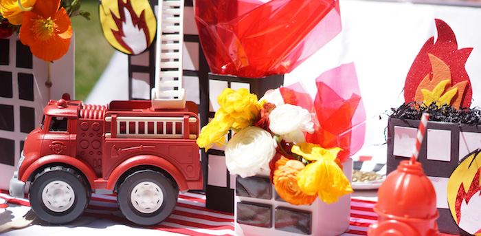 Fireman Birthday Party on Kara's Party Ideas | KarasPartyIdeas.com (3)