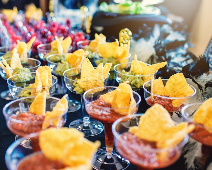 Chip and dip cups from a Glam Hollywood Birthday Party on Kara's Party Ideas | KarasPartyIdeas.com (7)