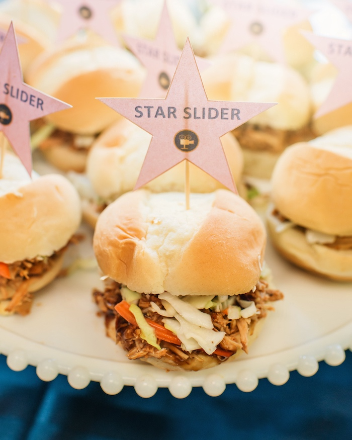 Star Sliders from a Glam Hollywood Birthday Party on Kara's Party Ideas | KarasPartyIdeas.com (4)