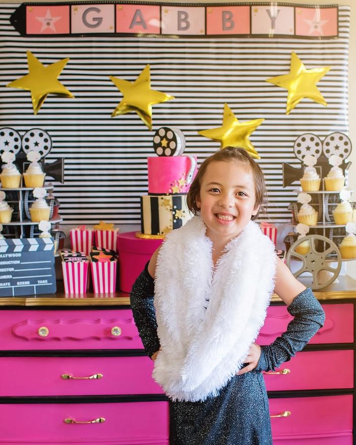 Glam Hollywood Birthday Party on Kara's Party Ideas | KarasPartyIdeas.com (3)