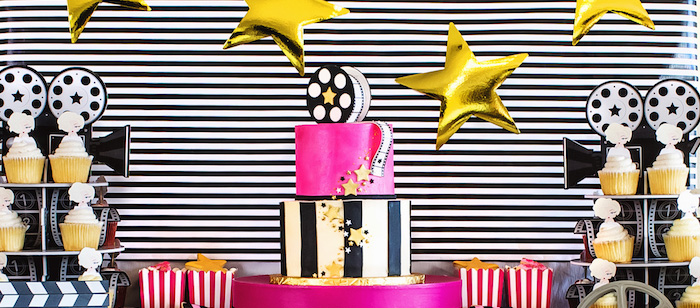 Glam Hollywood Birthday Party on Kara's Party Ideas | KarasPartyIdeas.com (2)