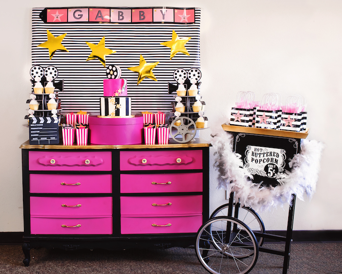 Glam Hollywood Birthday Party on Kara's Party Ideas | KarasPartyIdeas.com (18)