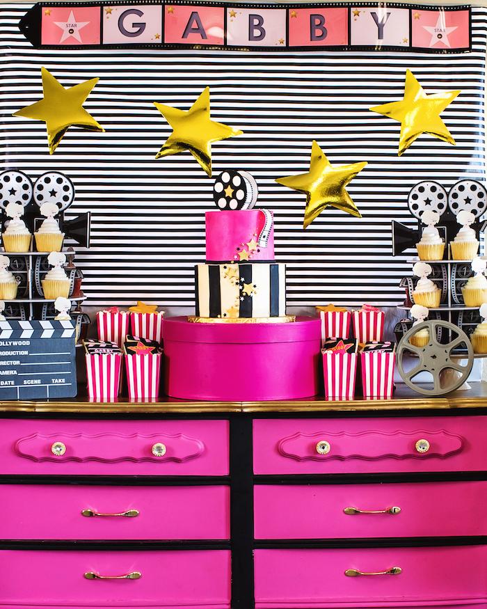 Glam Hollywood Birthday Party on Kara's Party Ideas | KarasPartyIdeas.com (17)