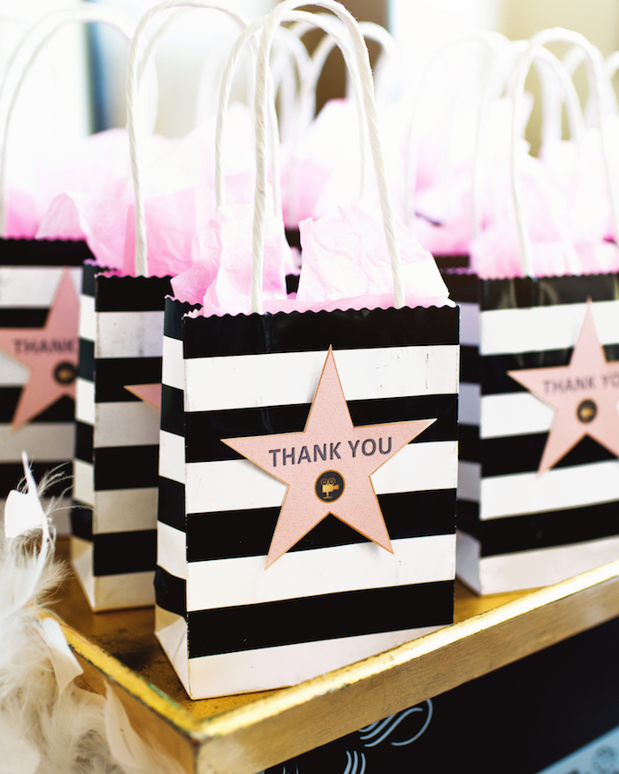 Hollywood Star gift bags from a Glam Hollywood Birthday Party on Kara's Party Ideas | KarasPartyIdeas.com (16)