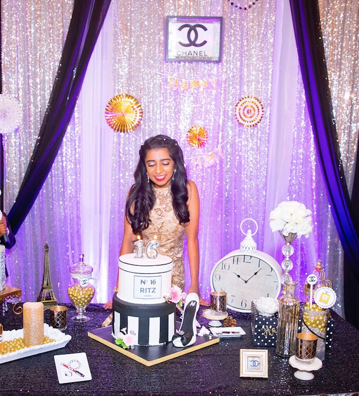 Glamorous Chanel No 16 Birthday Party On Karas Ideas