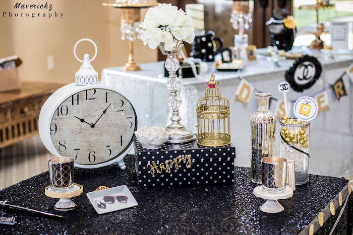 Kara S Party Ideas Glamorous Chanel No 16 Birthday Party