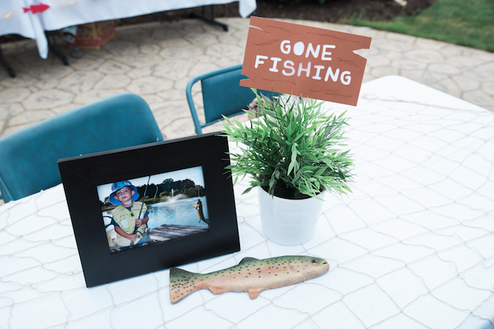 Fishing-inspired table centerpieces from a Gone Fishing Birthday Party on Kara's Party Ideas | KarasPartyIdeas.com (16)