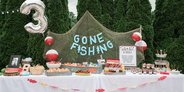 Gone Fishing Birthday Party on Kara's Party Ideas | KarasPartyIdeas.com (6)
