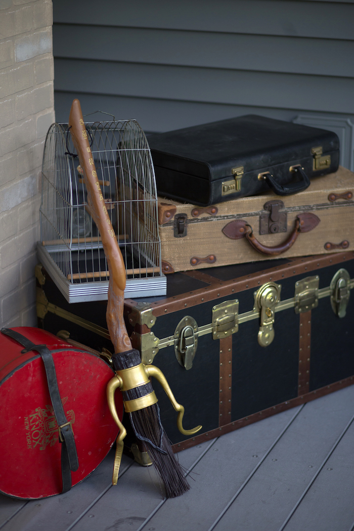 Wizard luggage from a Happening Harry Potter Birthday Party on Kara's Party Ideas | KarasPartyIdeas.com (27)