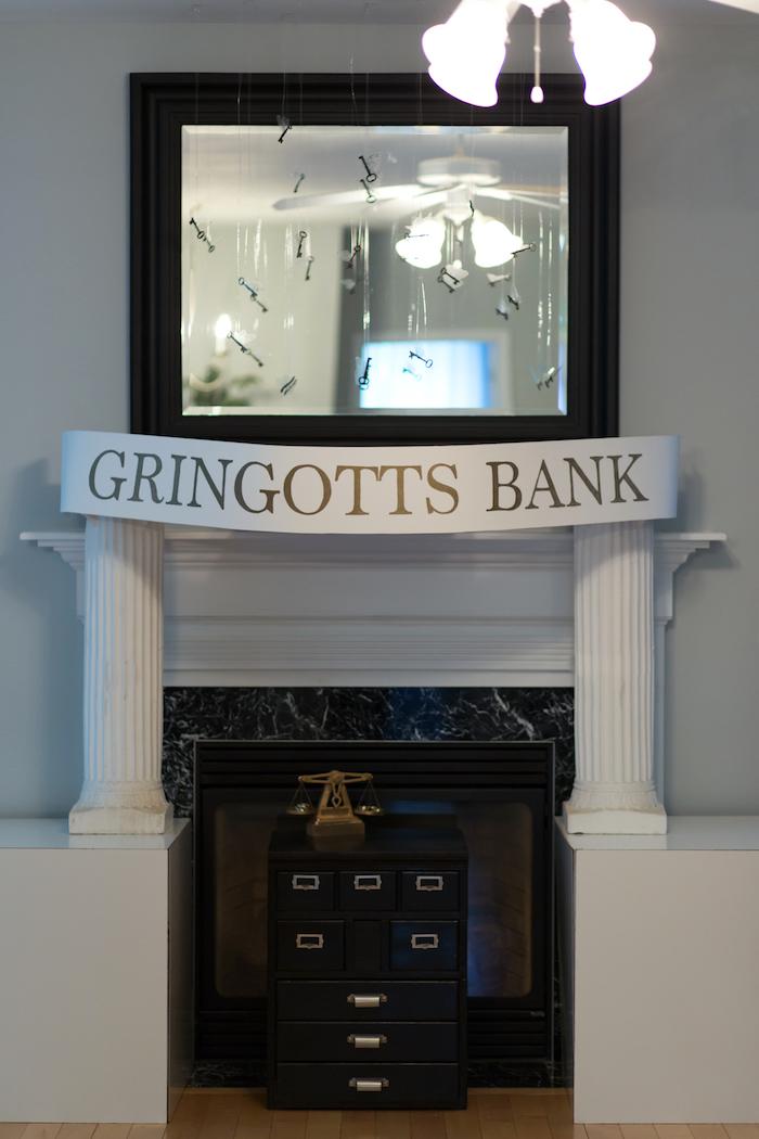 Gringotts Bank from a Happening Harry Potter Birthday Party on Kara's Party Ideas | KarasPartyIdeas.com (24)