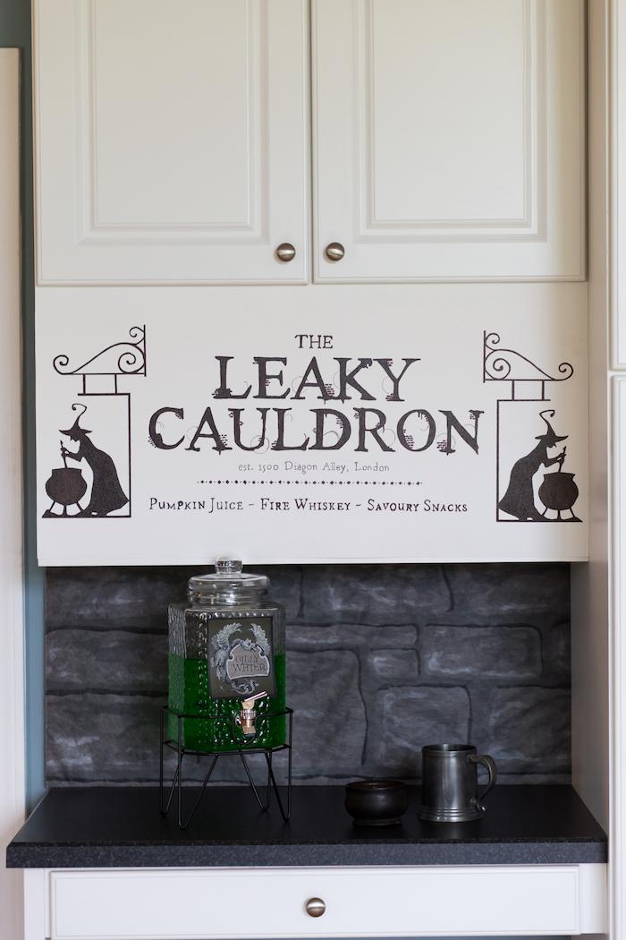 Leaky Cauldron from a Happening Harry Potter Birthday Party on Kara's Party Ideas | KarasPartyIdeas.com (19)
