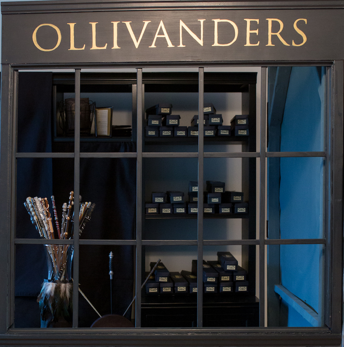 Ollivanders from a Happening Harry Potter Birthday Party on Kara's Party Ideas | KarasPartyIdeas.com (18)