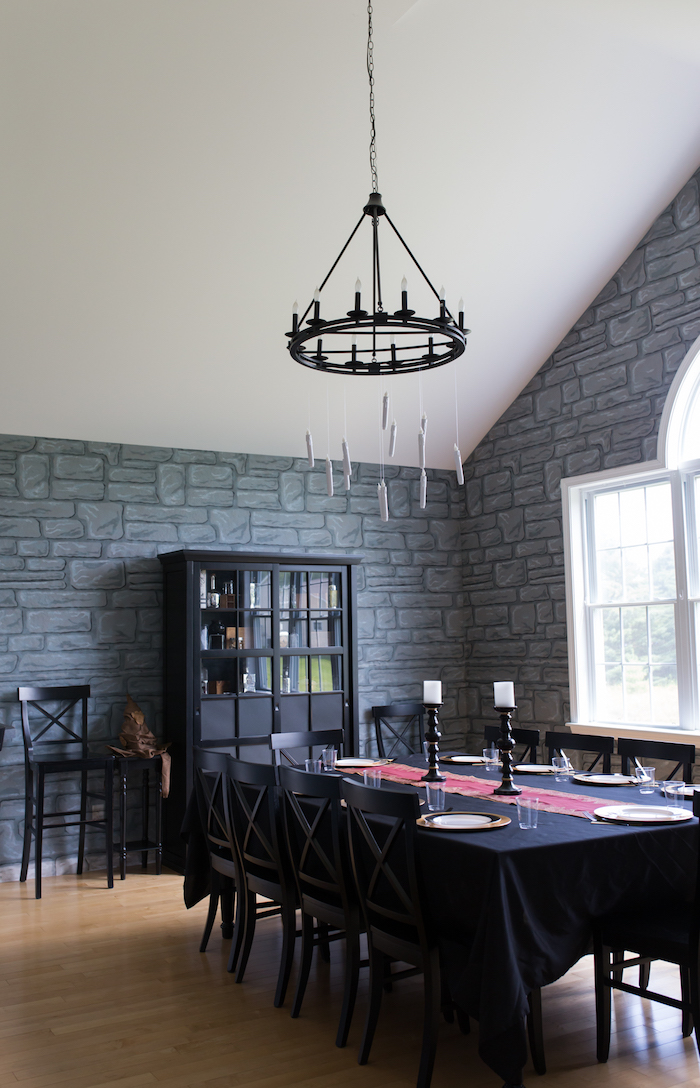 Great Hall guest table from a Happening Harry Potter Birthday Party on Kara's Party Ideas | KarasPartyIdeas.com (17)