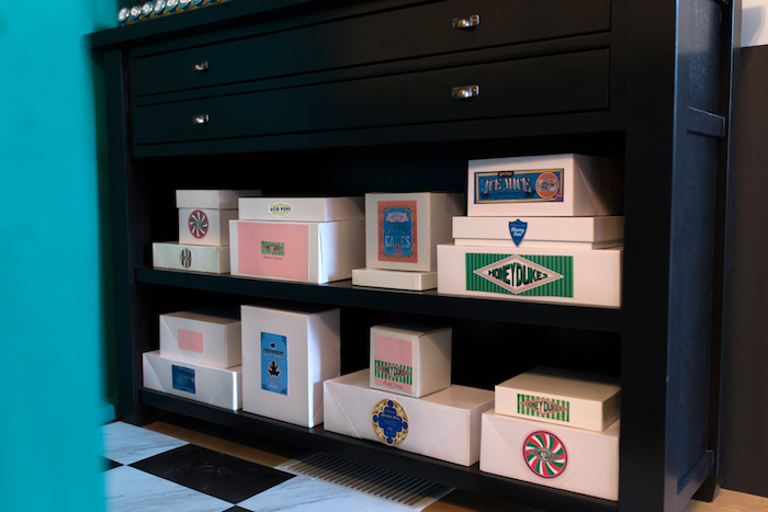 Honeydukes boxes from a Happening Harry Potter Birthday Party on Kara's Party Ideas | KarasPartyIdeas.com (13)