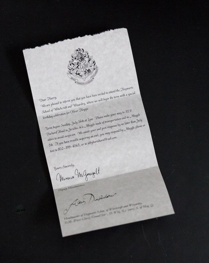 Harry Potter Party Invite from a Happening Harry Potter Birthday Party on Kara's Party Ideas | KarasPartyIdeas.com (35)
