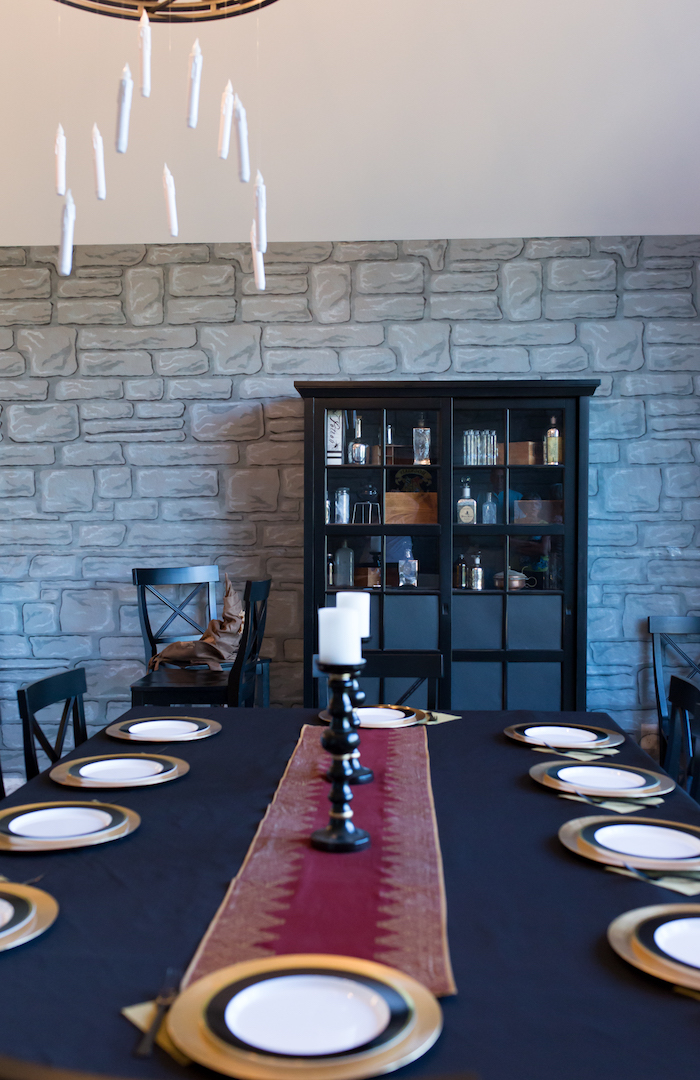 Great Hall guest table from a Happening Harry Potter Birthday Party on Kara's Party Ideas | KarasPartyIdeas.com (34)