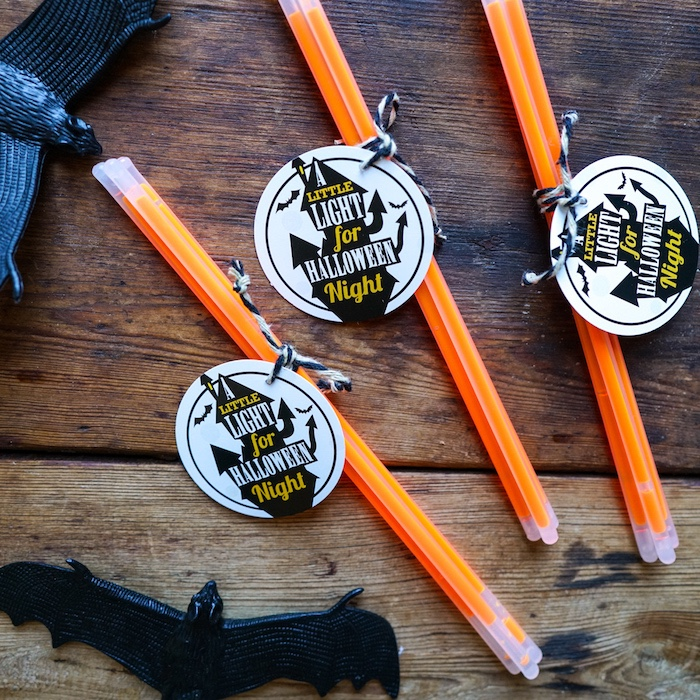 Halloween glow stick favors from a Modern Haunted House Halloween Party on Kara's Party Ideas | KarasPartyIdeas.com (11)