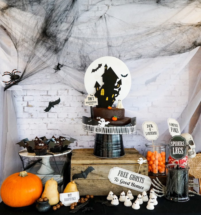 modern haunted house halloween party