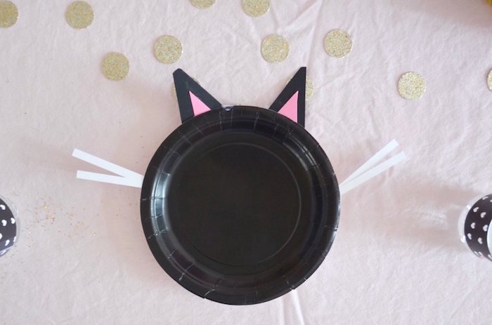 Cat place setting from a Kitty Cat Birthday Party on Kara's Party Ideas | KarasPartyIdeas.com (17)