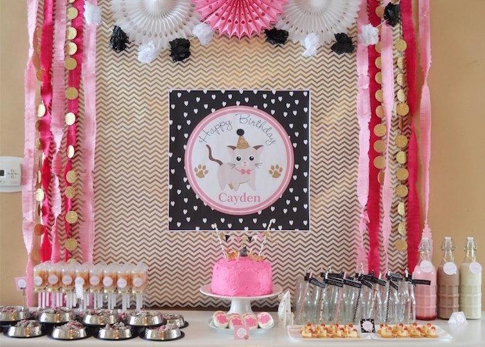 Kitty Cat Birthday Party on Kara's Party Ideas | KarasPartyIdeas.com (30)