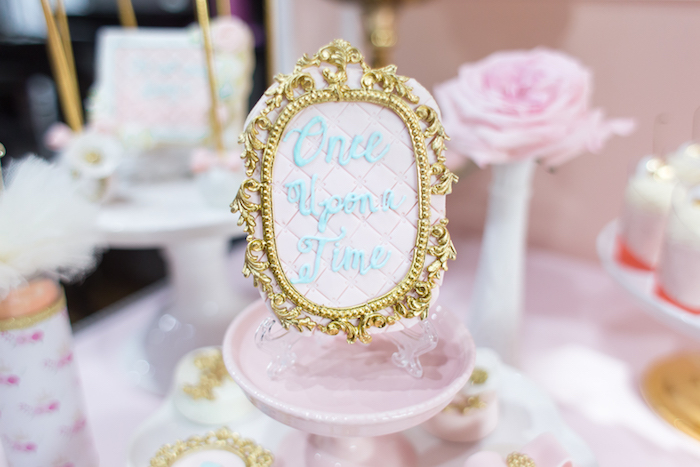 Once Upon a Time Cookie from a Magical Princess Birthday Party on Kara's Party Ideas | KarasPartyIdeas.com (20)