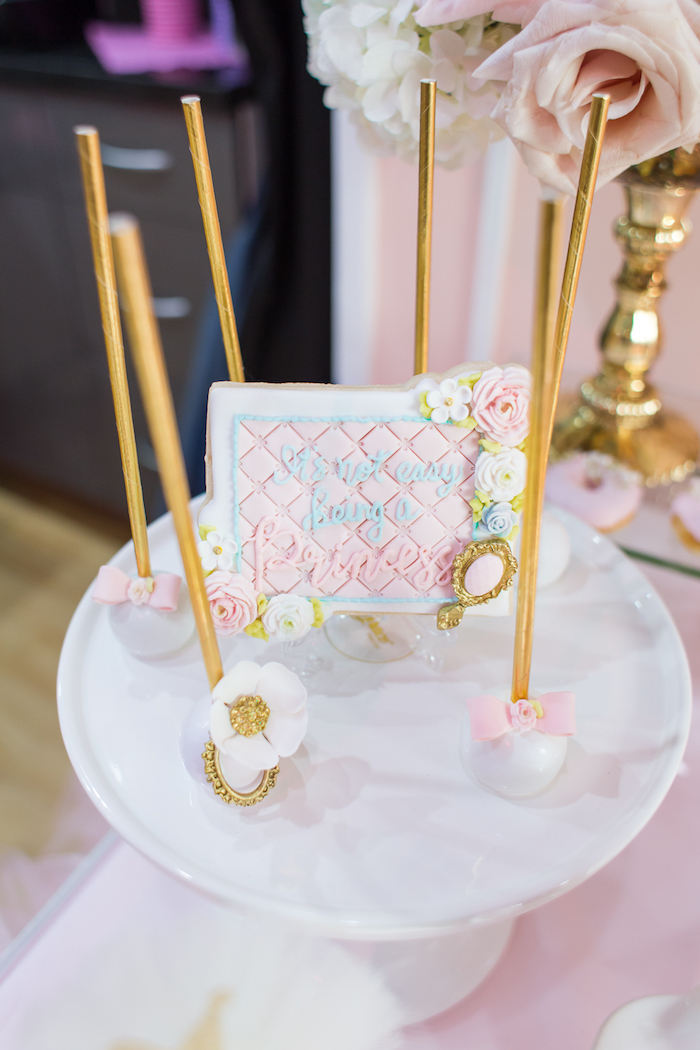 Cookie and cake pops from a Magical Princess Birthday Party on Kara's Party Ideas | KarasPartyIdeas.com (12)