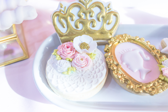 Princess cookies from a Magical Princess Birthday Party on Kara's Party Ideas | KarasPartyIdeas.com (10)