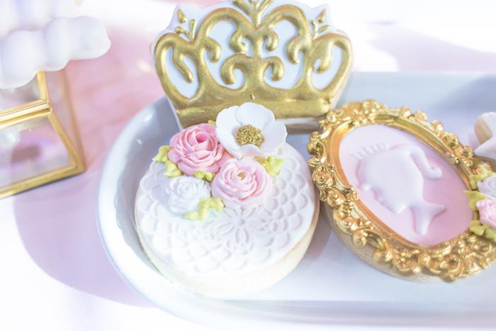 Princess cookies from a Magical Princess Birthday Party on Kara's Party Ideas | KarasPartyIdeas.com (10)