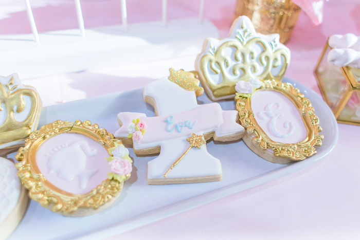 Princess cookies from a Magical Princess Birthday Party on Kara's Party Ideas | KarasPartyIdeas.com (9)