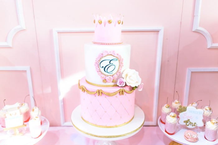 Cakescape from a Magical Princess Birthday Party on Kara's Party Ideas | KarasPartyIdeas.com (7)