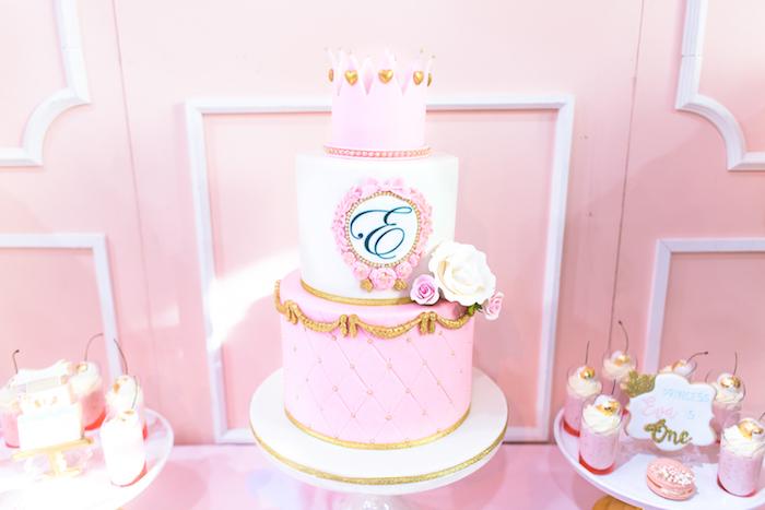 Cakescape from a Magical Princess Birthday Party on Kara's Party Ideas | KarasPartyIdeas.com (7)