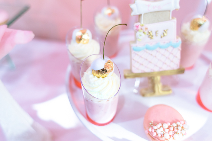 Dessert cup from a Magical Princess Birthday Party on Kara's Party Ideas | KarasPartyIdeas.com (5)