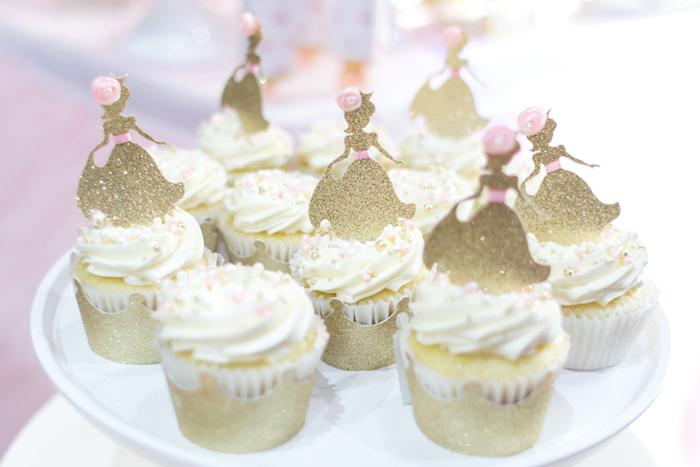 Princess cupcakes from a Magical Princess Birthday Party on Kara's Party Ideas | KarasPartyIdeas.com (24)
