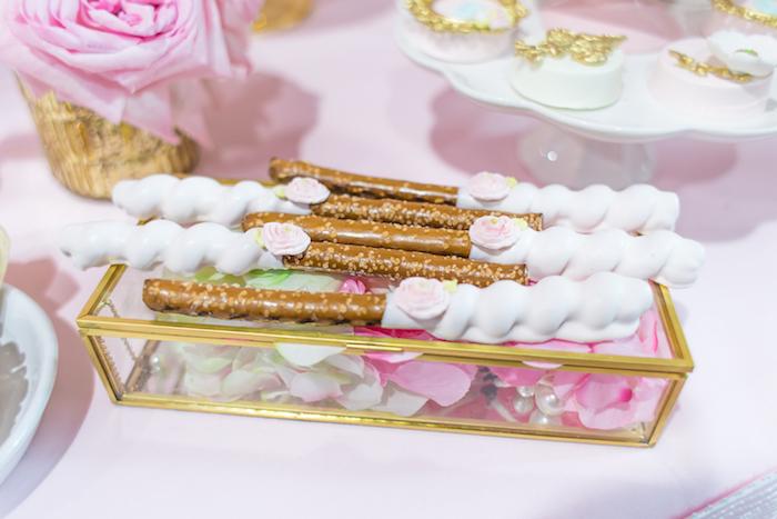 Pretzel sticks from a Magical Princess Birthday Party on Kara's Party Ideas | KarasPartyIdeas.com (22)