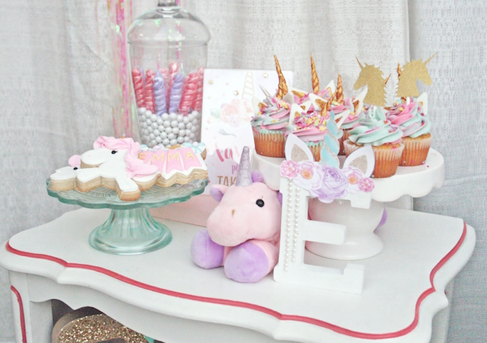 Unicorn sweet table from a Magical Unicorn Birthday Party on Kara's Party Ideas | KarasPartyIdeas.com (5)