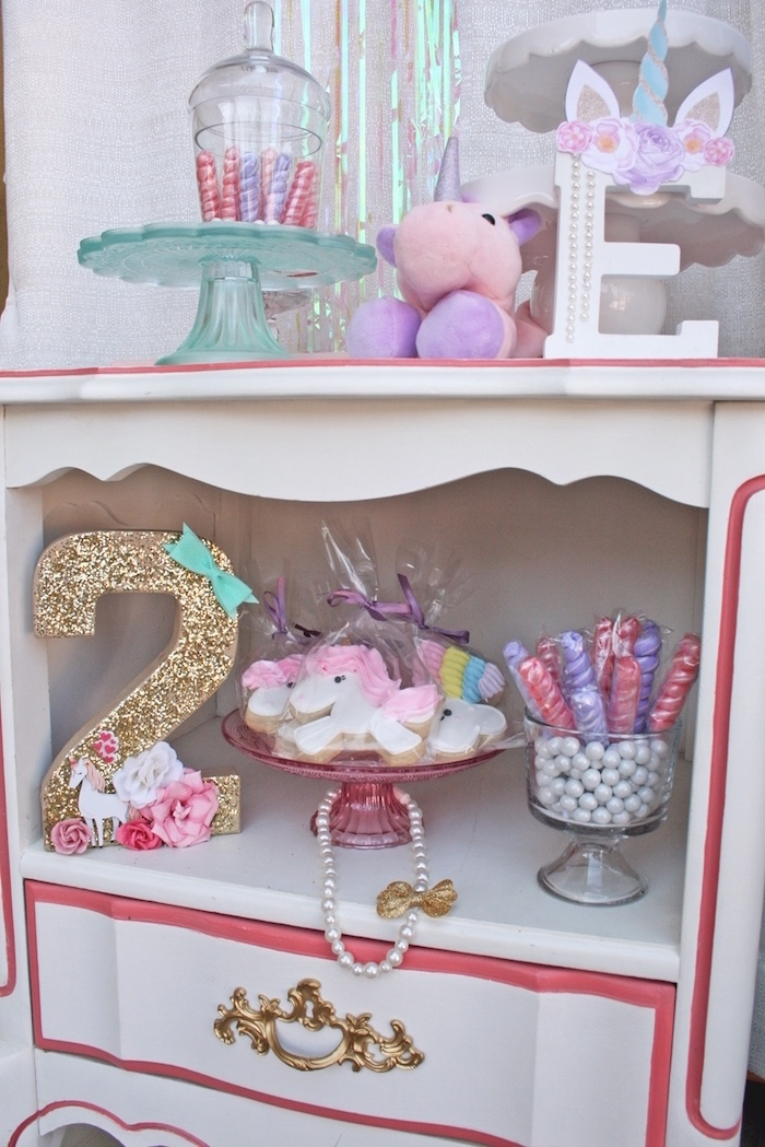 Sweets, favors & decor from a Magical Unicorn Birthday Party on Kara's Party Ideas | KarasPartyIdeas.com (11)