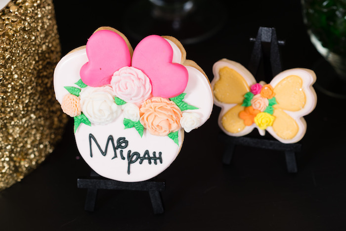 Cookies from a Minnie Mouse Inspired Butterfly Garden Party on Kara's Party Ideas | KarasPartyIdeas.com (14)