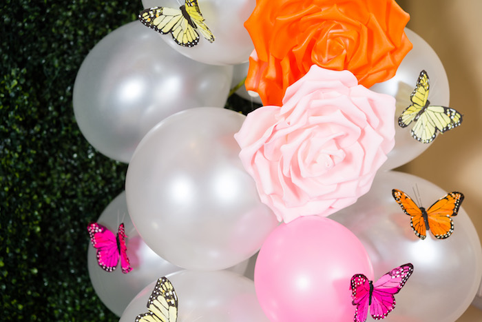 Balloon arch detail from a Minnie Mouse Inspired Butterfly Garden Party on Kara's Party Ideas | KarasPartyIdeas.com (12)