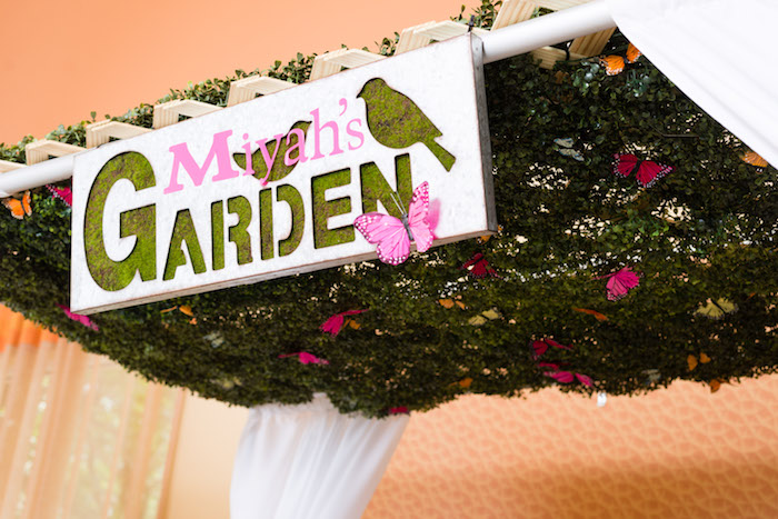 Garden signage from a Minnie Mouse Inspired Butterfly Garden Party on Kara's Party Ideas | KarasPartyIdeas.com (28)